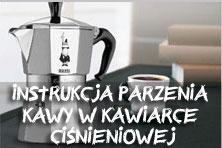 instrukcja parzenia kawy w kawiarce ciśnieniowej